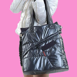 Luxury Puff Jacket Party Tote Bag