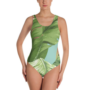 Banana Leaf One-Piece Swimsuit