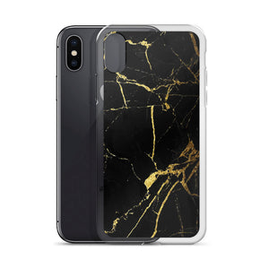 Black Gold Marble iPhone Case