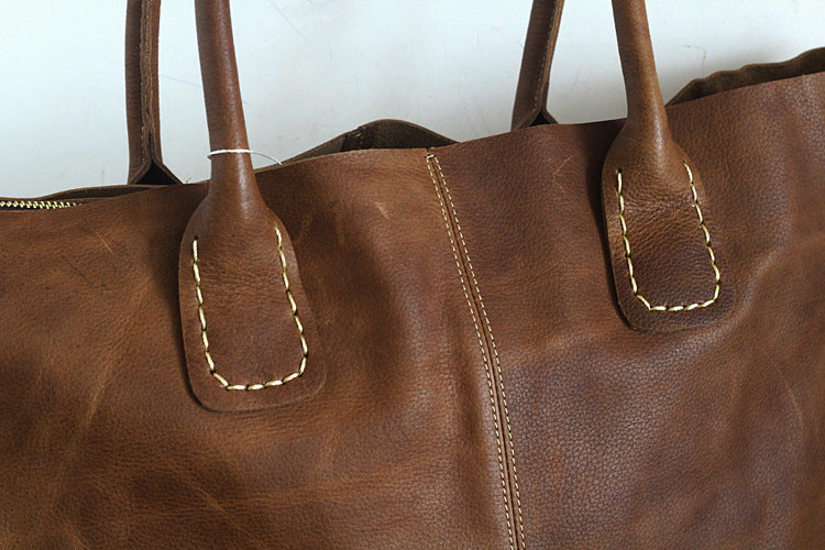 Soft Leather Bag Leather Tote Bag Handmade Leather Bag