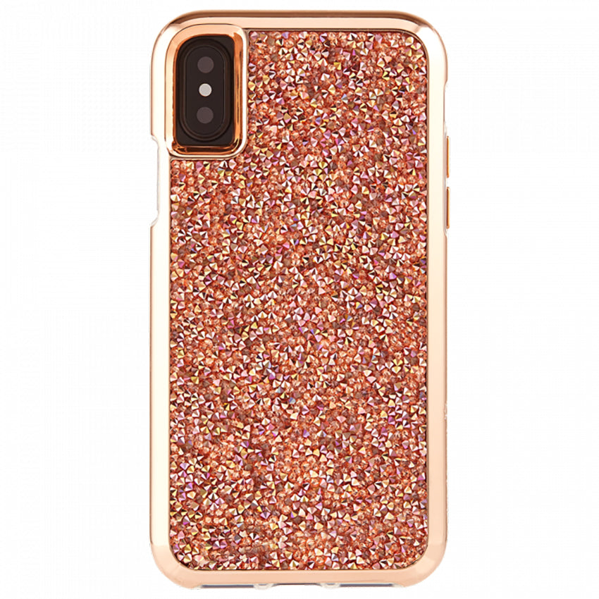 Rose Gold Crystal Case