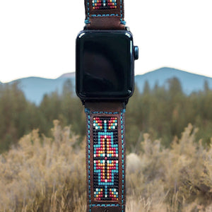Western Apple Watch Band Beaded