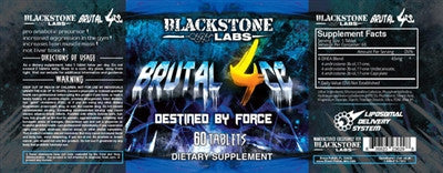 Blackstone Labs Brutal 4ce 60 Tabs Label