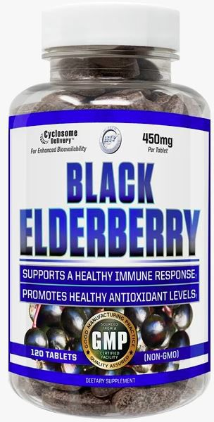 HI-TECH PHARMA BLACK ELDERBERRY 120 TABS