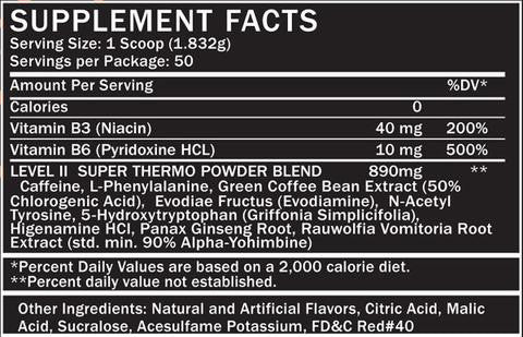 Formutech Nutrition Level II Super Thermogenic Powder - SupplementsMax