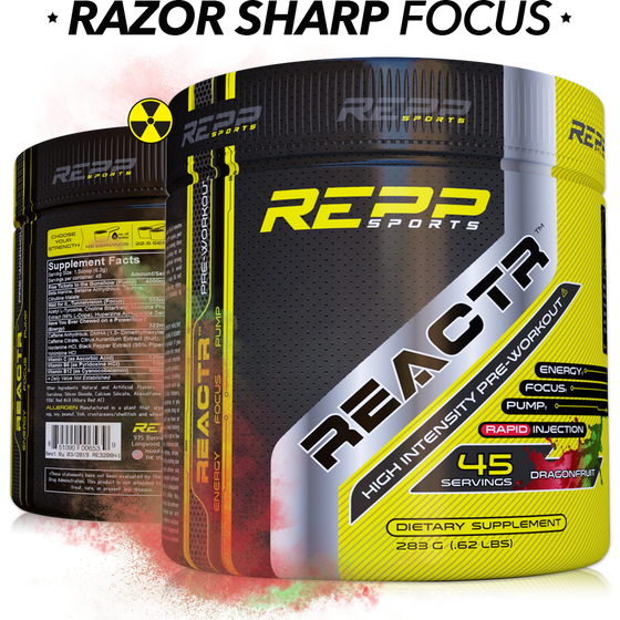 REPP SPORTS REACTR PRE-WORKOUT - SupplementsMax