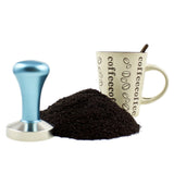 Stainless Steel Espresso Coffee Tamper - 58mm Flat Base