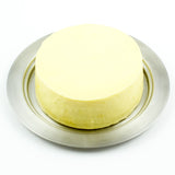 Stainless Steel Round Butter Dish with Easy to Hold Lid