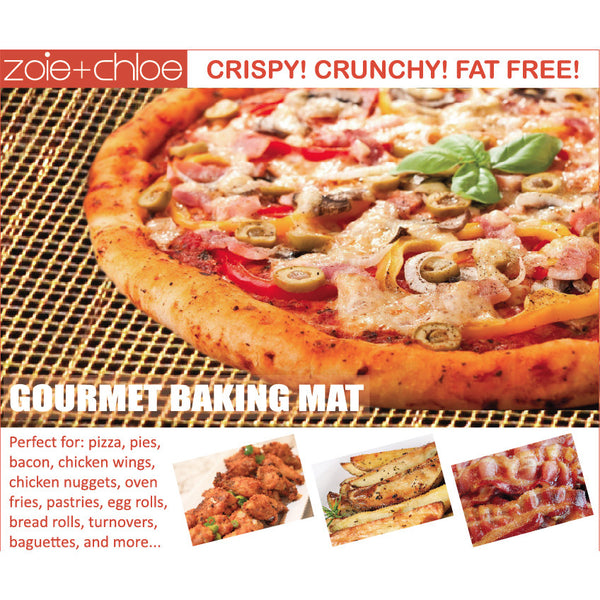 Crispy Crunchy Cooker Baking Mat - Pizza Fries Bacon Nuggets Egg Rolls Tater Tots & More