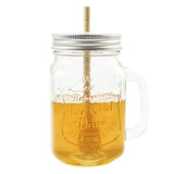 Honey Mason Jar with Bamboo Dipper - 16oz