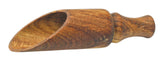 Zoie + Chloe All-Natural Acacia Wood Scoop Spoon - Tea Salt Coffee Flour Nuts & More
