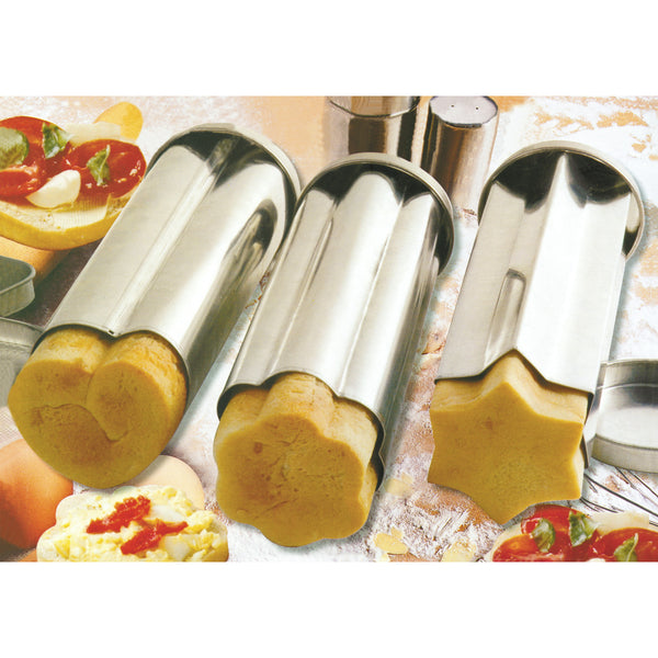 3 Piece Canape Party Bread Mold Set