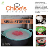 Silicone Spill Stopper Pot Pan Lid & Splatter Guard - 12 Inch