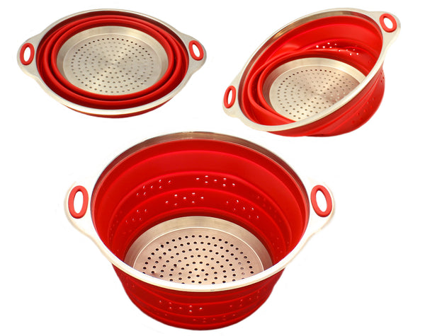 Stainless Steel and Silicone Collapsible Strainer