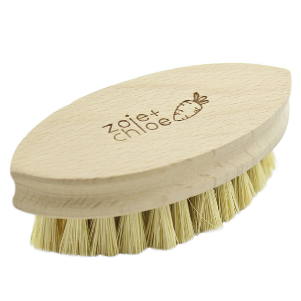 100% Natural Plant-Fiber Soft Bristles Vegetable Brush