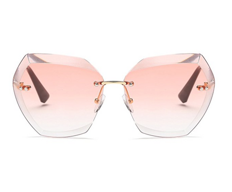 Diamond Cutting Lense Pink Sunglasses