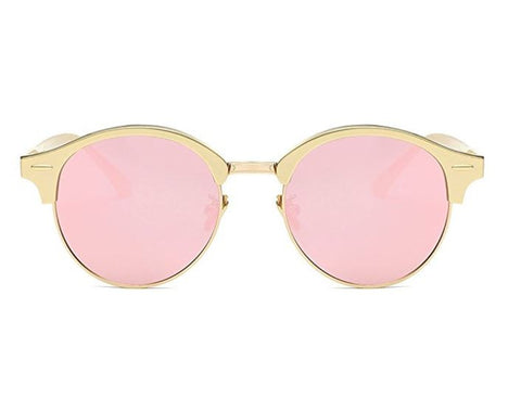 Pink and Gold Retro Square Polarized