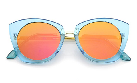 Blue and Orange Sunglasses