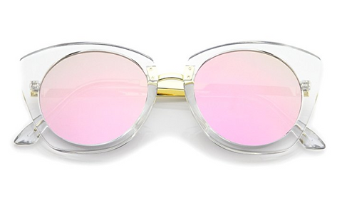 Gray and Pink Summer Sunglasses