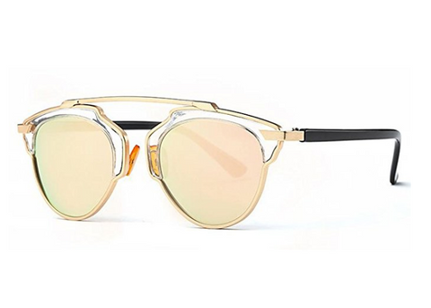 77d0b8049 Gold and Pink Polarized Sunglasses