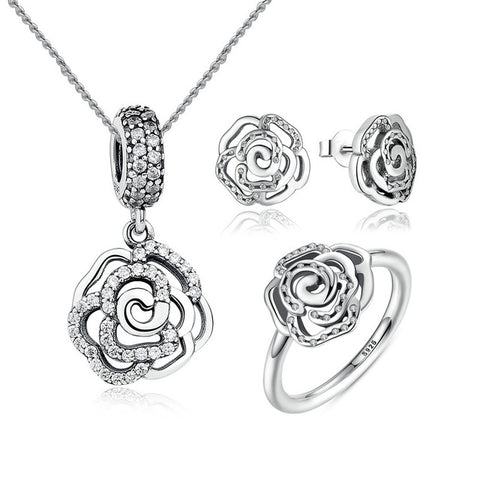 Rose Petals Flower Jewelry Sets