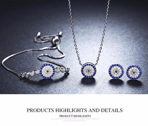 Trendy Round Blue Eyes Sets
