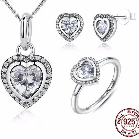 Love Heart Jewelry Sets