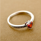 Vintage Cut Ruby Heart Ring