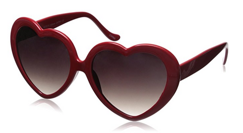 Red Hearts Sunglasses