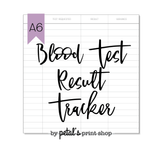 Blood Test Result Tracker Notebook
