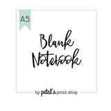 Blank A5 Notebook - 20, 30, 40, or 50 pages