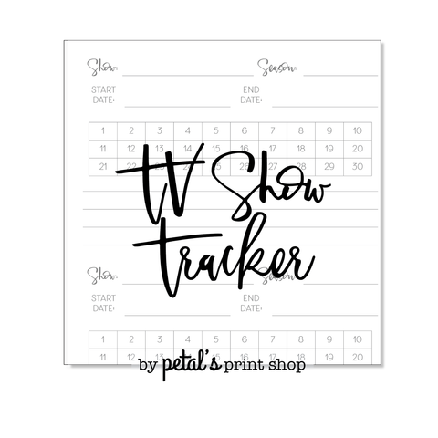 TV Show Tracker Notebook
