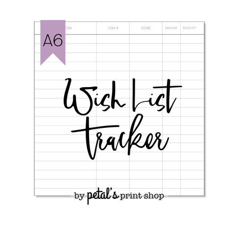 Wish List Tracker Notebook