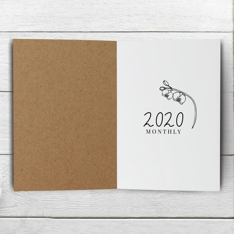 2020 MO2P Month on 2 Pages Traveler's Notebook