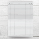 Online Shopping Tracker Notebook