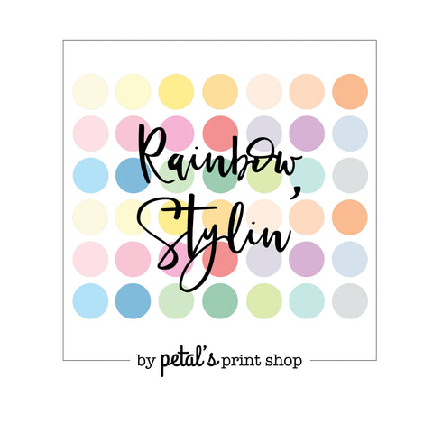 Rainbow Styling - Coloured Traveler's Notebook with Grid/Lines/Dotted/Blank print