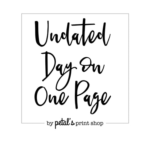 Undated Day on One Page (DO1P)