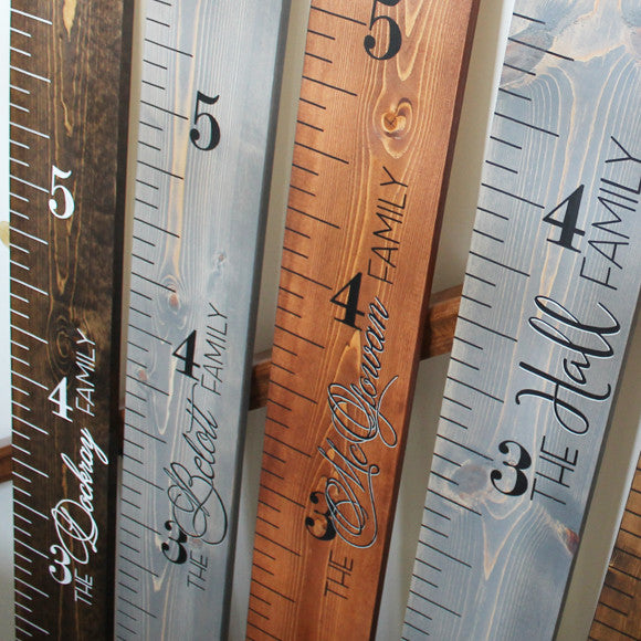 Growth Chart Ruler - Medium Stain