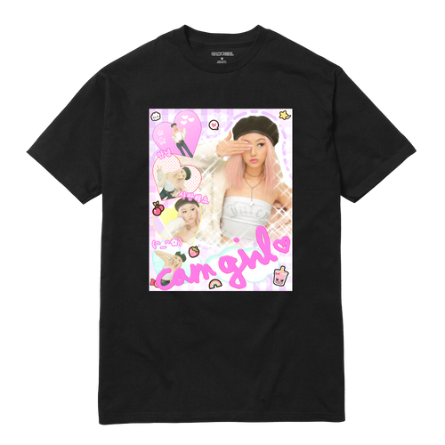 CAM GIRL SHIRT - BLACK