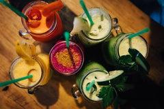 A colorful smoothie