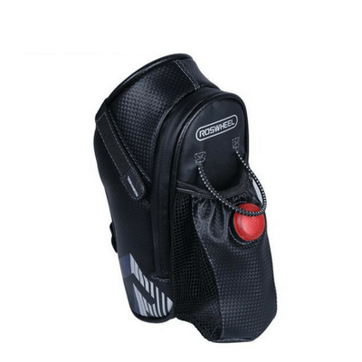 Bicycle Booth Bicycle Storage Black & Gray with Tail Light (Premium) 3 in 1 LED Saddle Bag
