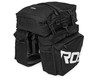 Bicycle Booth Bicycle Storage Black ROSWHEEL 3 in 1 Bicycle Pannier
