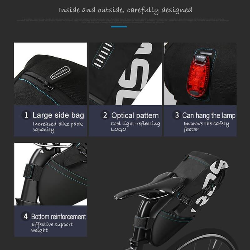 Bicycle Booth Bicycle Storage ROSWHEEL Water Resistant Saddle Bag