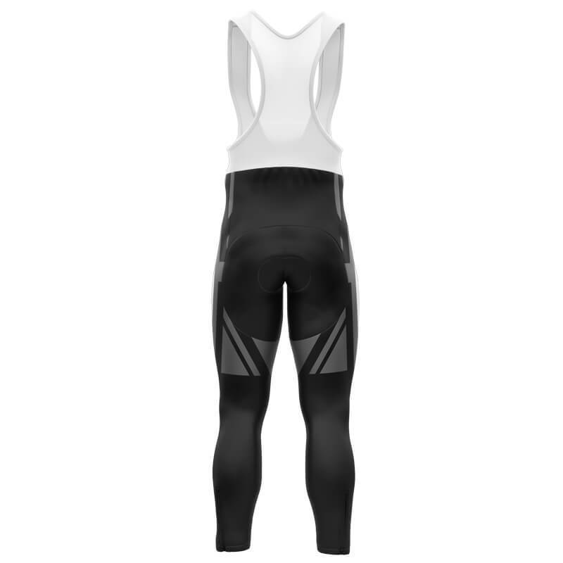 Bicycle Booth Cycling Bib Pants XXS / Male / Thermal Fleece Thin White Line UK Bib Pants (Black) (V2)