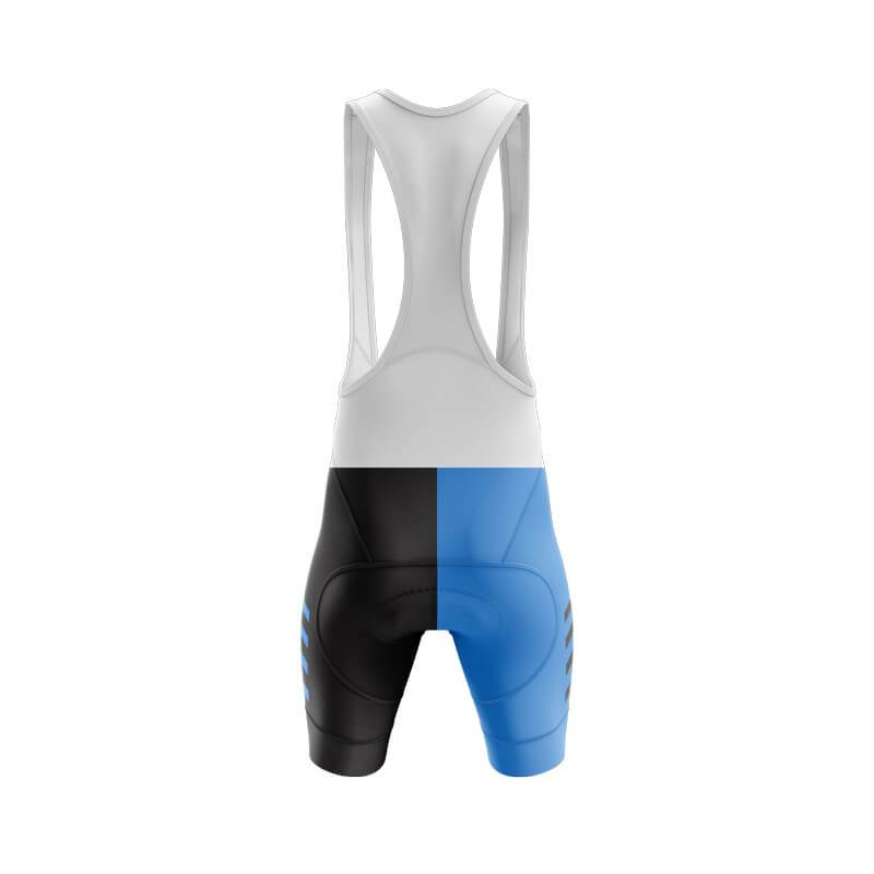 Blue and Black Bib & Shorts
