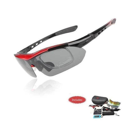 Bicycle Booth Eyewear Red Unisex T50P Professional Sports Glasses