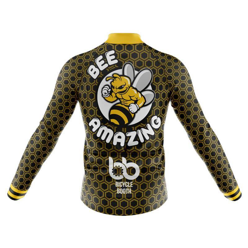 Bicycle Booth Long Sleeve Jerseys XXS / Male Bee Amazing Long Sleeve Jersey (V1)