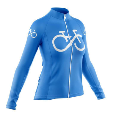 Bicycle Booth Long Sleeve Jerseys Bike Forever Long Sleeve Jersey (Blue)