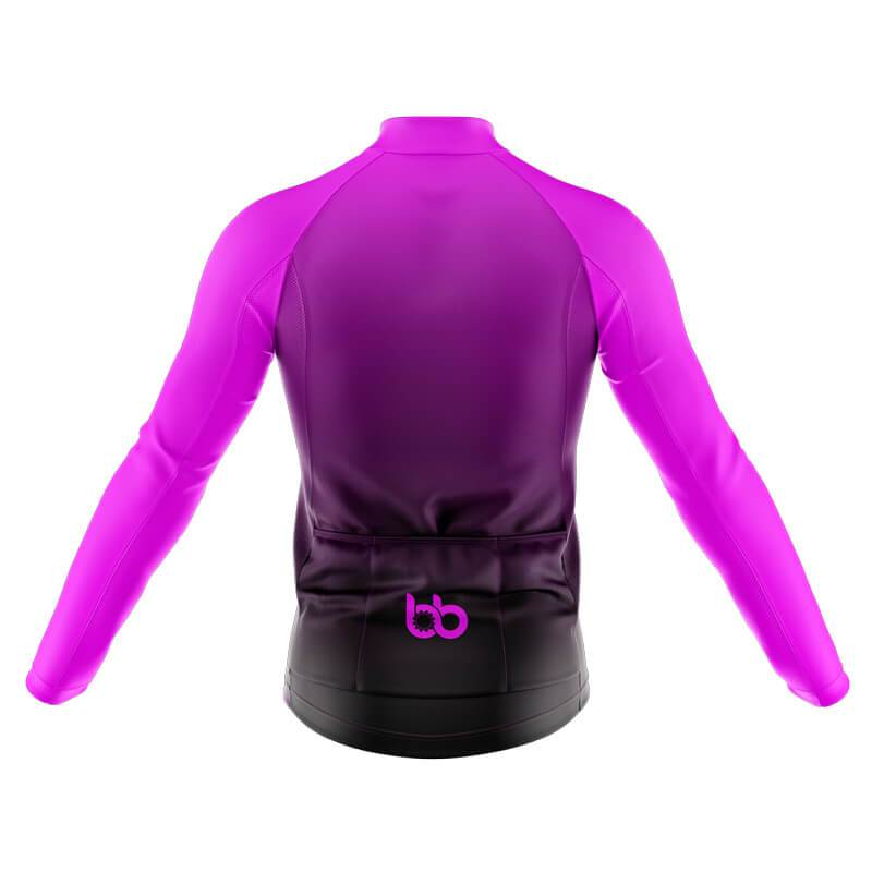 Black to Violet Long Sleeve Jersey