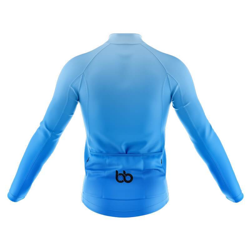 Bicycle Booth Long Sleeve Jerseys XXS / Male Blue Gradient Long Sleeve Jersey